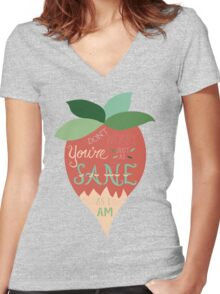 Luna Lovegood Just As Sane As I Am Women's Fitted V-Neck T-Shirt
