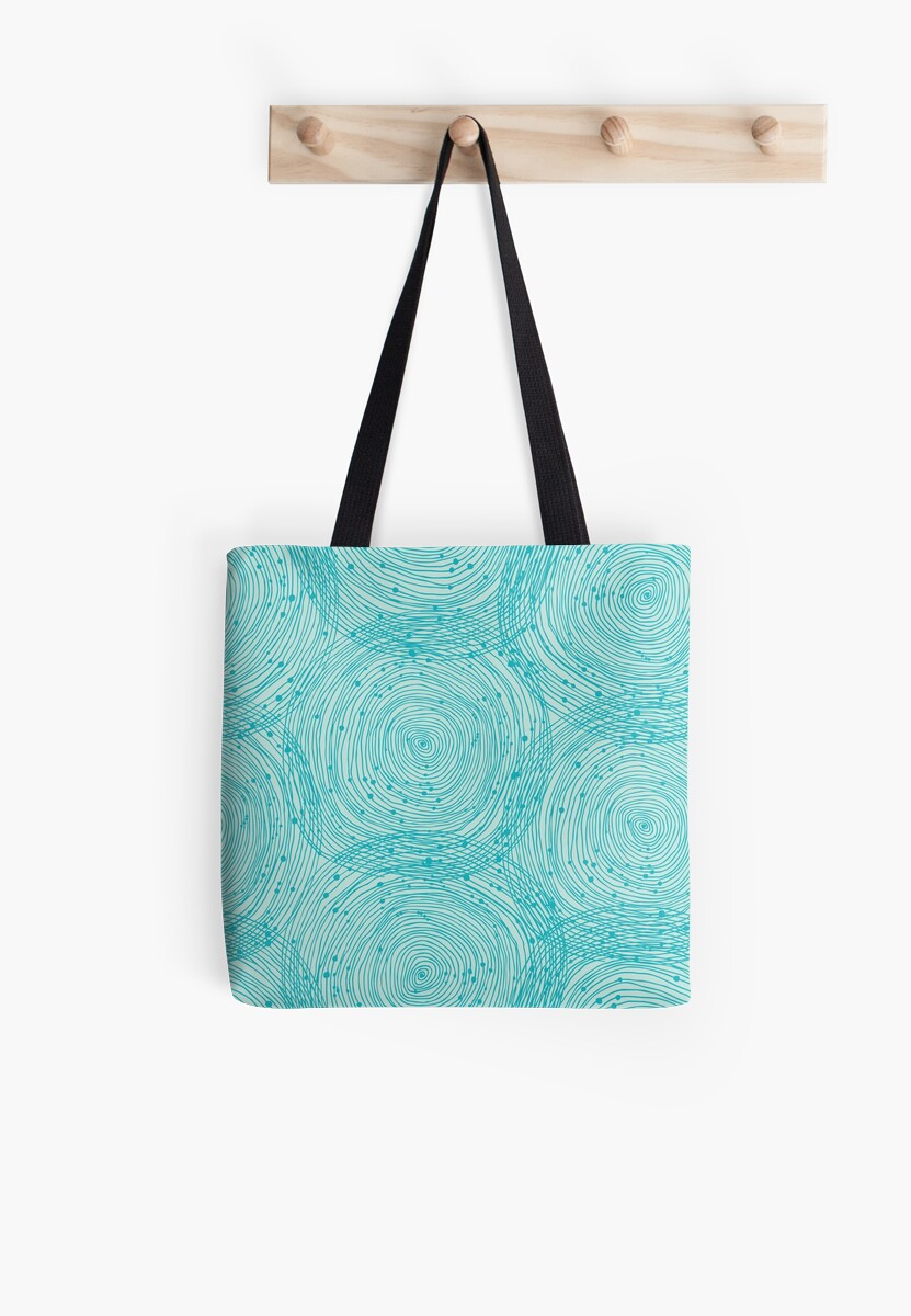 Turquoise Small Ring Tote Bag 87