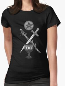 The Suits of the Tarot Womens Fitted T-Shirt