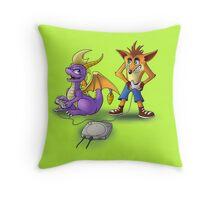 Spyro and Crash - PS1 classics Throw Pillow