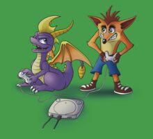 Spyro and Crash - PS1 classics Kids Tee