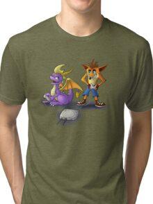 Spyro and Crash - PS1 classics Tri-blend T-Shirt