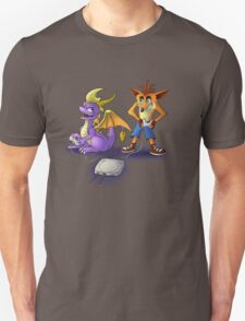 Spyro and Crash - PS1 classics Unisex T-Shirt