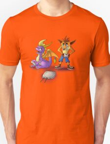 Spyro and Crash - PS1 classics T-Shirt