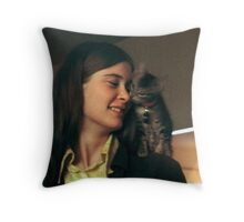 Old and grainy but cherished... Throw Pillow