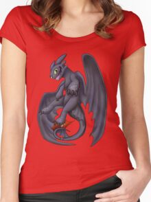 Playful Toothless Women's Fitted Scoop T-Shirt