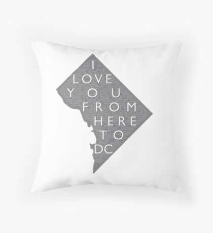 From Here To DC Throw Pillow