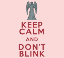 Keep Calm and Don't Blink - Weeping Angels - Doctor Who One Piece - Long Sleeve