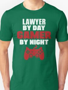Lawyer by day gamer by night, law T-Shirt