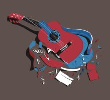 Music T-Shirts: The Broken Guitar by Sakshamputtu