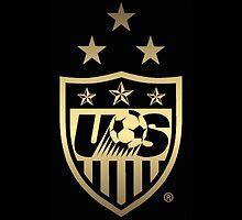 Big New USWNT Black & Gold Logo by USWNT-fan