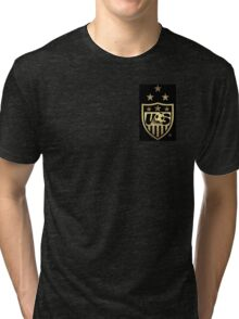 Big New USWNT Black & Gold Logo Tri-blend T-Shirt