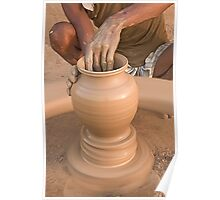 Making of Earthen Pottery Poster