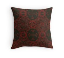 gothic cross stich Throw Pillow
