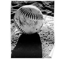 Baseball on Base Poster