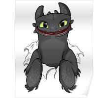 Curious Toothless Poster