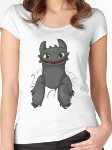 Curious Toothless Women's Fitted Scoop T-Shirt