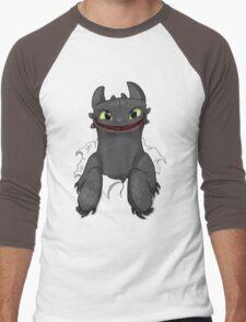 Curious Toothless Men's Baseball ¾ T-Shirt