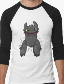 Curious Toothless Men's Baseball ¾ T-Shirt