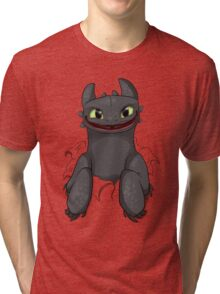 Curious Toothless Tri-blend T-Shirt