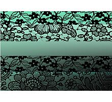 Lace On Green Photographic Print