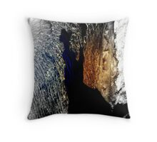 Shadow on water of a man with a hat .. Throw Pillow