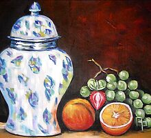 Ginger Jar Still Life by Pamela Plante
