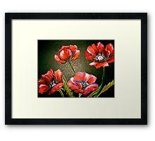 Flowers...Poppies Framed Print