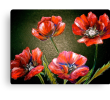 Flowers...Poppies Canvas Print