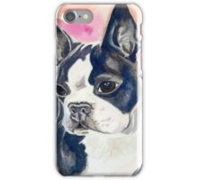 Boston Terrier Watercolor iPhone Case/Skin