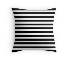 Horizontal Black and White Stripe Bedspread Duvet Cover Pillow Throw Pillow