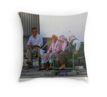 Village Gossip Throw Pillow