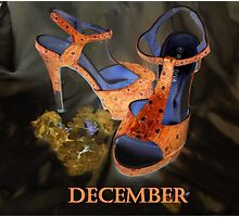 DECEMBER SHOES Photographic Print