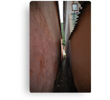 The narrowest street in Europe, Romania Canvas Print