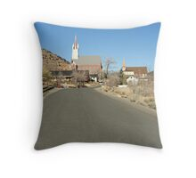 """Virginia City Landmarks"" Throw Pillow"
