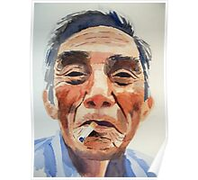 There was an old man from Halong Poster