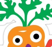 Eat your Veggies - carrots   Sticker