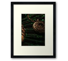 Pocket Watch and Fan Framed Print