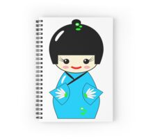 Japanese Kokeshi doll Spiral Notebook