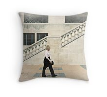 Walking, Château Laurier, Ottawa Throw Pillow