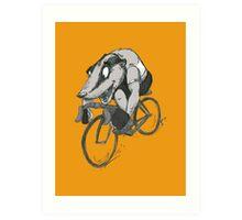 Bikin' Badger Art Print