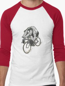 Bikin' Badger Men's Baseball ¾ T-Shirt