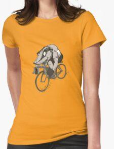 Bikin' Badger Womens Fitted T-Shirt