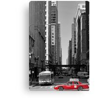Red Taxi Canvas Print