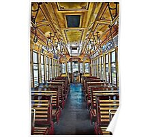 Trolley Car 432A Interior HDR Poster