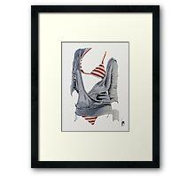 """Sexy Clothing lV"" Acrylic on Canvas Framed Print"