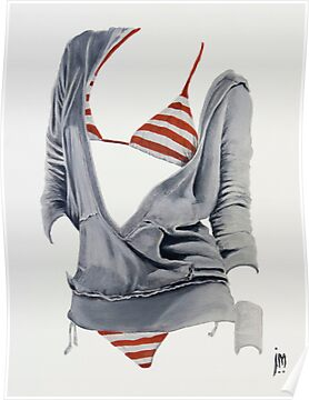 &quot;Sexy Clothing lV&quot; Acrylic on Canvas by John D Moulton