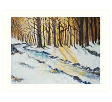 The Woods in Winter Art Print