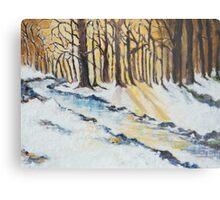 The Woods in Winter Metal Print