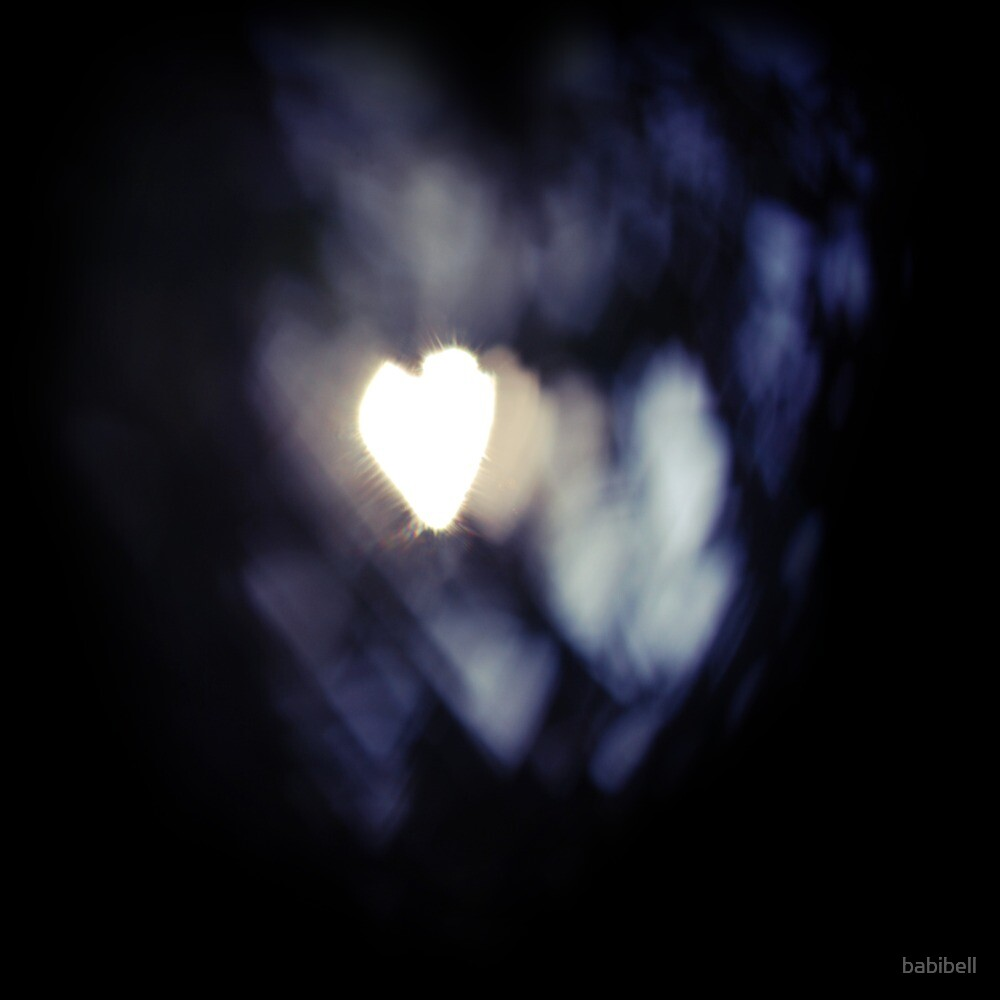 Bokeh Hearts by Claire Dimond